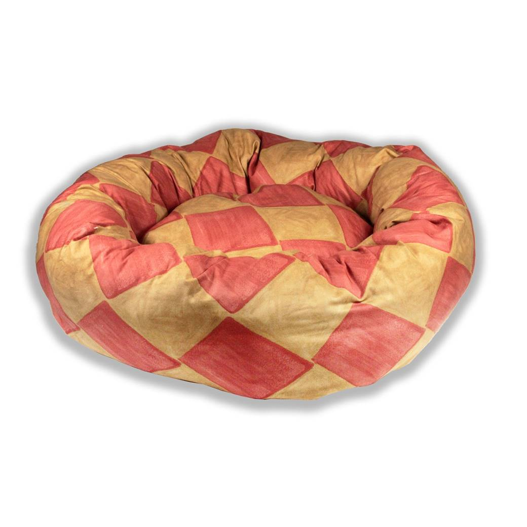 Cubes Donut Beds With Unusual Style New Pet Beds Direct : red gold from petbedsdirect.co.uk size 1040 x 1040 jpeg 67kB