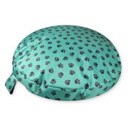 Comfortable_Circular_Bed_with_Memory_Foam_Paws_Green_01