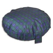 Comfortable_Circular_Bed_with_Memory_Foam_Tartan_Green_03