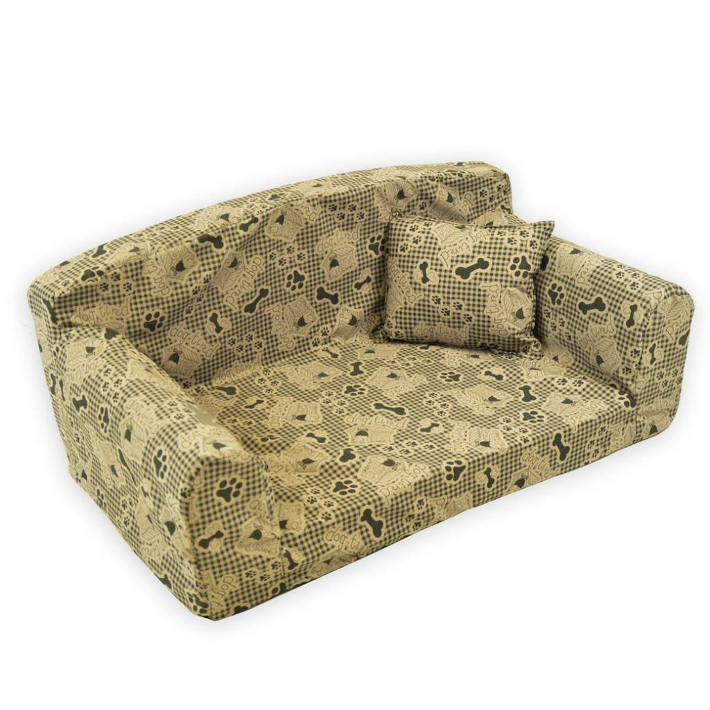 Dog Tired – Pet Sofa. Trendy Small Medium Large Dog Bed. Trendy