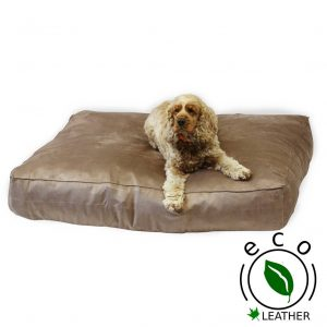 leather dog bed