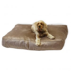 deep 8 inch dog bed suede