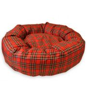 Donut_bed_Plaid_Red_04