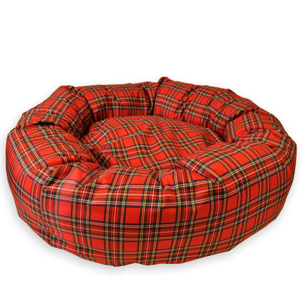 Tartan Waterproof Donut Dog Bed New Pet Beds Direct : DonutbedPlaidRed04 from petbedsdirect.co.uk size 1040 x 1040 jpeg 129kB