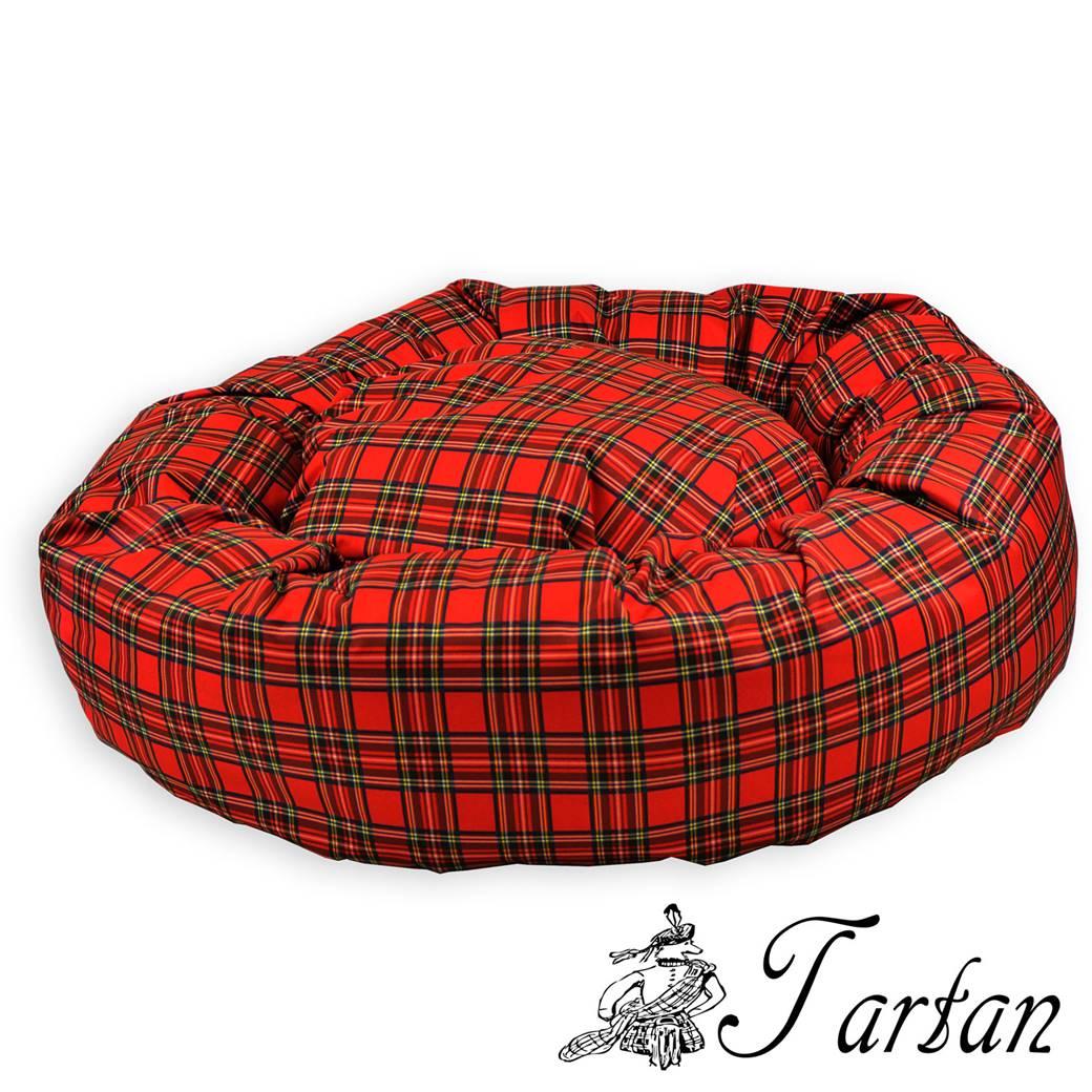 Green Plaid Dog Bed