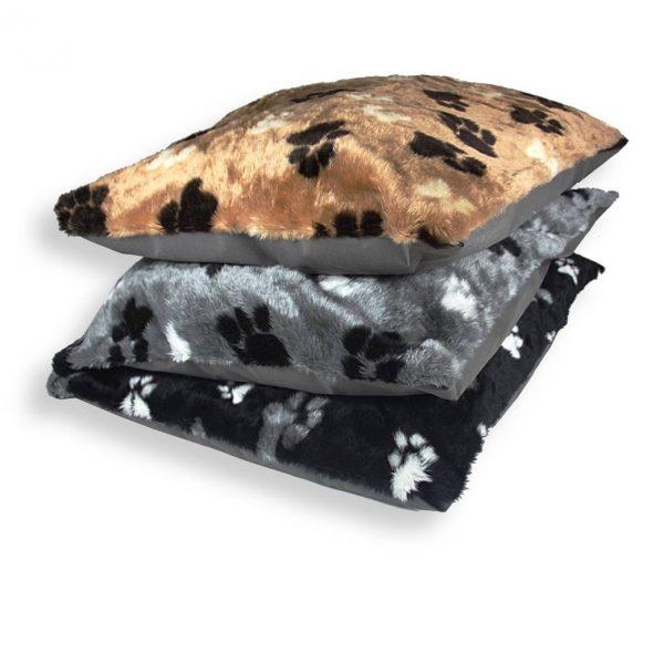pillows fur paws