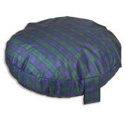 Comfortable_Circular_Bed_with_Memory_Foam_Tartan_Green_03