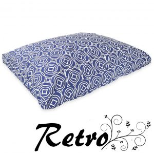 Diamond Retro dog Cushion Bed made in uk