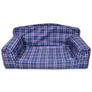 Tartan Pet Sofa Blue Dog Bed Waterproof