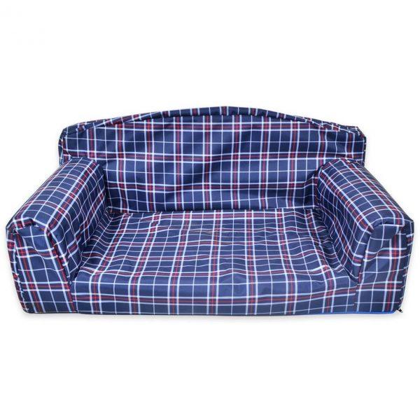 Tartan Pet Sofa Blue Dog Bed Waterproof