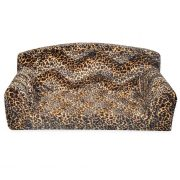 Sand Leopard sofa dog bed