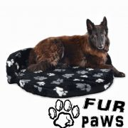fur paws ring sofa black dog bed