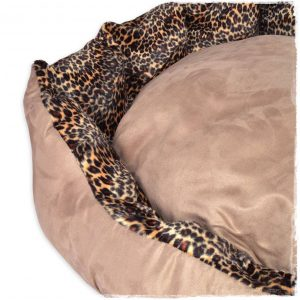 luxury suede leopard nest dogs beds