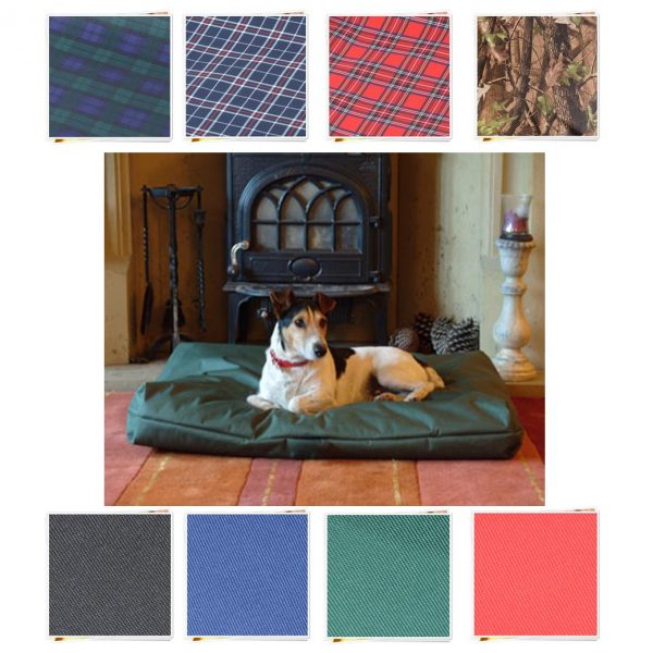 oblong DOG BED 8 COLOURS