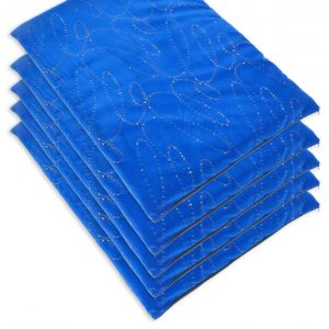 Heavy Duty Fabric, Blue Modern Dog Mats (1)