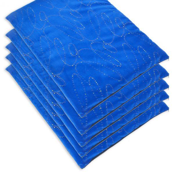 Heavy Duty Fabric, Blue Modern Dog Mats (1)