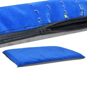 Heavy Duty Fabric, Blue Modern Dog Mats (2)