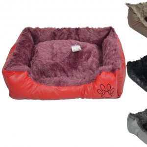Pet Bed Dog Bed Very Comfortable Oblong Shape BLACK