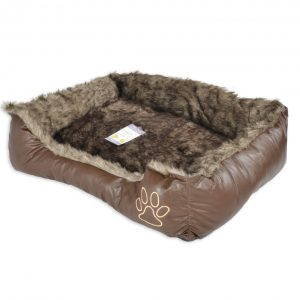 Pet Bed Dog Bed Very Comfortable Oblong Shape 4 Colours UK Shipper brown