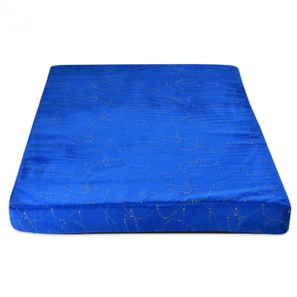 Heavy Duty Blue Orthopedic Memory Foam Dog Cube Bed
