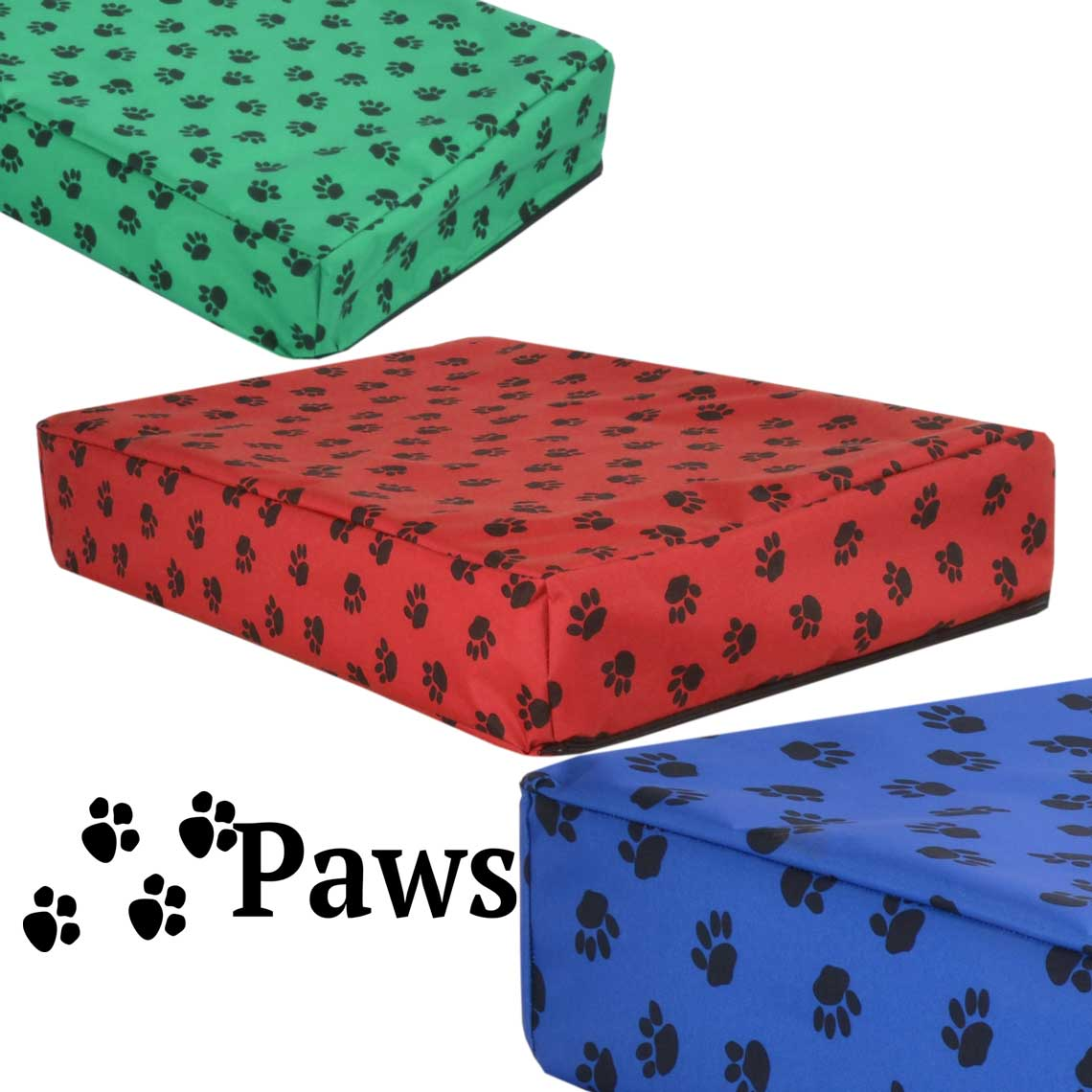 paws waterproof orthopedic memory foam dog cube bed. Black Bedroom Furniture Sets. Home Design Ideas