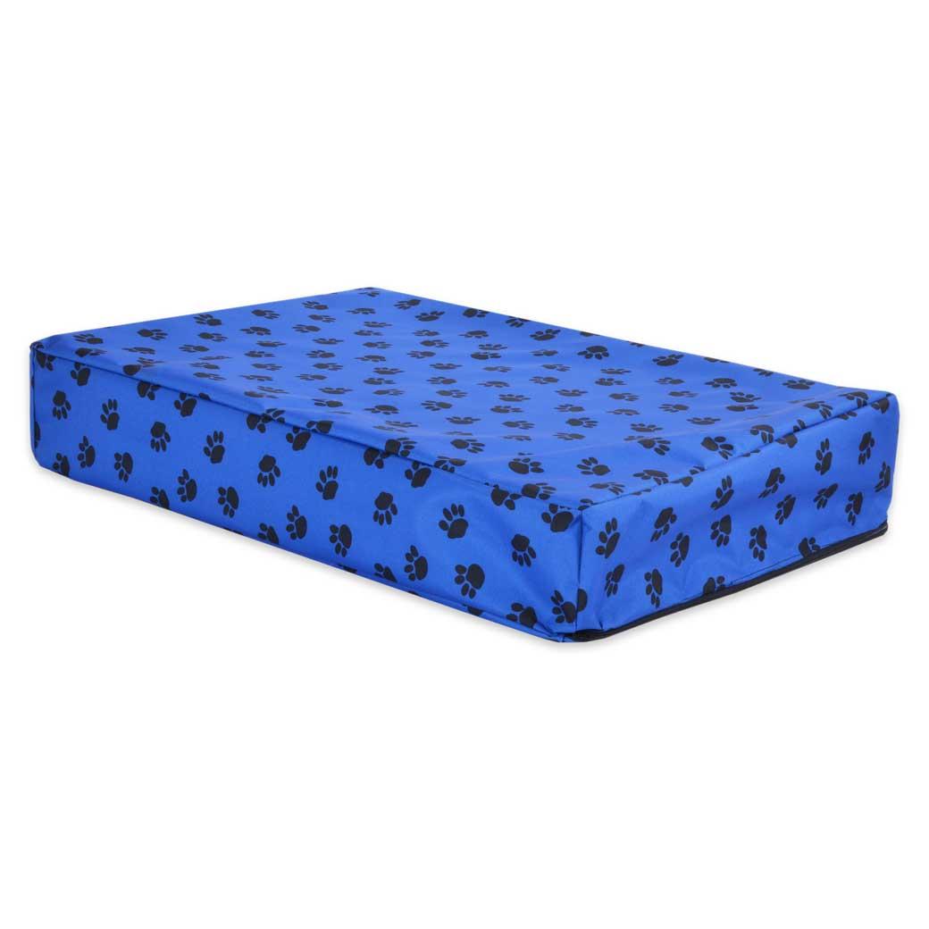 Paws Waterproof Orthopedic Memory Foam Dog Cube Bed