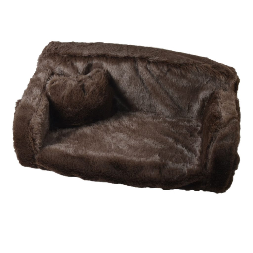 PREMIUM QUALITY DOG BED - Fur sofa plain colour - Very ...